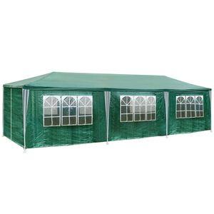 TecTake Pavillon de jardin vert  9 m x 3 m x 2,50 m