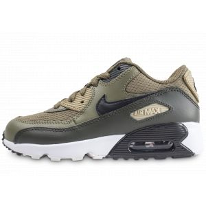 new concept 89d1c 14b8c Image de Nike Air Max 90 Mesh Pre-school Kaki Enfant Baskets Running