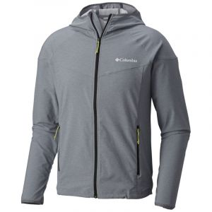 Columbia Homme Veste Softshell à Capuche, Heather Canyon Jacket, Polyester Softshell, Gris (Grey Ash Heather), Taille: L, WM1207