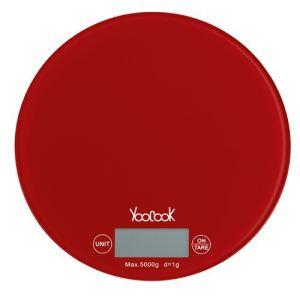 YooCook Balance électronique ronde avec plateau en verre 5 kg