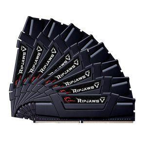 G.Skill F4-3000C14Q2-128GVKD - Barrette mémoire RipJaws 5 Series Noir 128 Go (8x 16 Go) DDR4 3000 MHz CL14