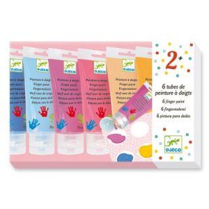 Djeco Set de 6 tubes de peinture à doigts Sweet