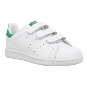 Adidas Stan Smith, Sneakers Basses garçon, Blanc (White/White/Green), 33 EU (UK Child 1 Enfant UK)