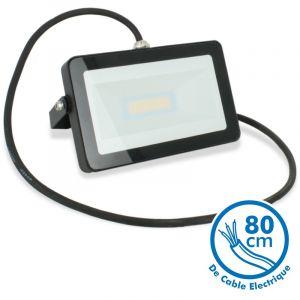 Eclairage design Projecteur LED 20W Noir Extérieur IP65   blanc-chaud-2700k