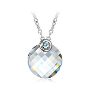 Blue Pearls Cry E726 J - Collier en Cristal Swarovski Elements et rhodium