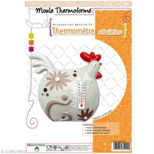 DTM Moule plastique Poule et thermomètre à décorer