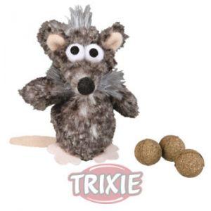 Trixie Souris pour chats Rat avec 3 boules