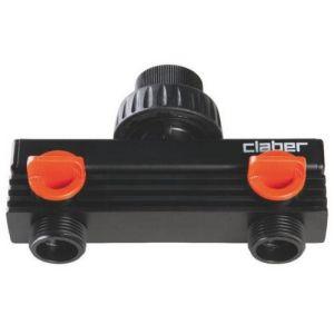 Claber Répartiteur plastique - 2 sortie - MF 3/4'
