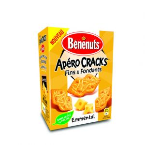 Benenuts Apero cracks fins & fondants emmental - Le paquet de 85g
