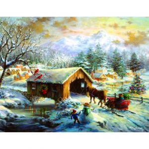 Sunsout Nicky Boehme - Over the Covered Bridge