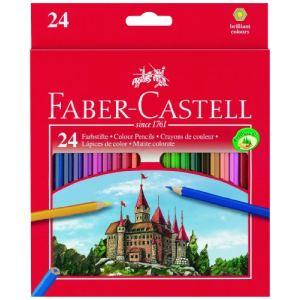 Faber-Castell 24 Crayons de couleur Motif Château