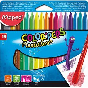 Maped 18 crayons de Cire Color'peps Plasticlean en plastique spécial