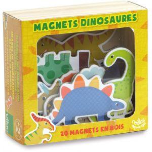 Vilac Coffret de magnets en bois dinosaures 20 pièces