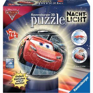 Ravensburger Cars 3 - Puzzle ball 72 pièces lumineux la nuit
