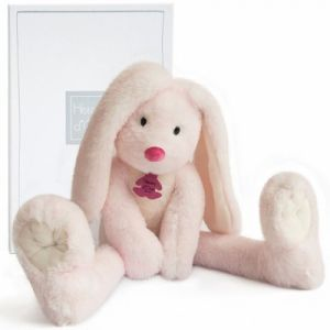 Doudou et Compagnie Fluffy - Lapin rose longues jambes
