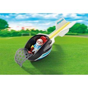 Playmobil 9374 - Pilote et fusée des airs