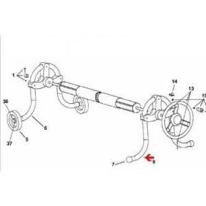 Procopi 1861009 - Pied de rechange côté fixe pour enrouleur de bâche de piscine Oméga