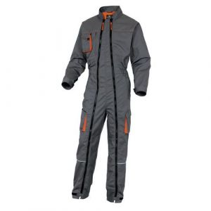 Delta Plus Combinaison Mach 2 double zip insertion genouillère Gris Orange Taille L