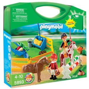 Image de Playmobil 5893 - Valisette cavaliers et poneys