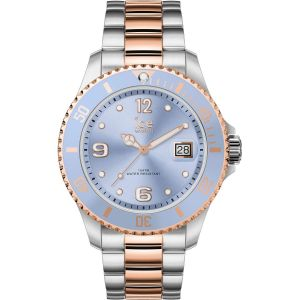 Ice Watch Ice-Watch - ICE steel Sky silver rose-gold - Montre argent pour femme avec bracelet en metal - 016770 (Medium)