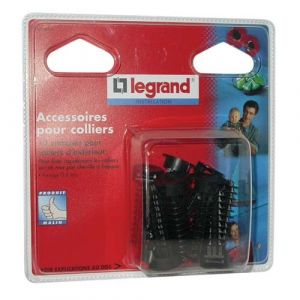 Legrand 10 embases a cheville noir