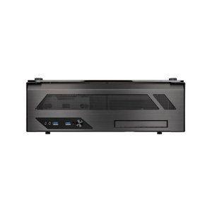 Lian Li PC-O5X - Boîtier Desktop Mini-ITX HTPC en aluminium et verre trempé sans alimentation