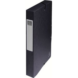 Exacompta 50401E - Boîte à élastique EXABOX, carte lustrée, dos de 40, coloris noir