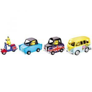 Mondo Motors Pack 4 véhicules Les Minions 1:43
