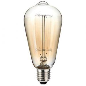 Sylvania Ampoule incandescence vintage Edison ST64 60W B22 - Incandescente tube, poirette