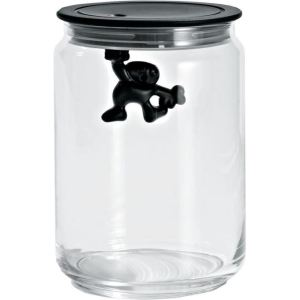 Alessi Boîte Gianni a little man holding on tight en verre (90 cl)