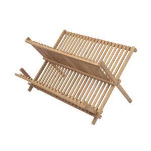 Ambiance Nature 507098 - Egouttoir à vaisselles pour 32 couverts en bambou