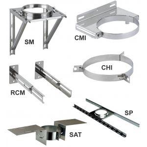 Poujoulat Elements de support et de maintien THERMINOX TI - Collier pour hauban - diamètre 180 - réf. CHI