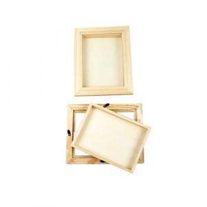 Creotime Cadres - Cadre 3D avec vitre, dim. 18,2x23,2 cm, prof. 2,5 cm, pin, 1p