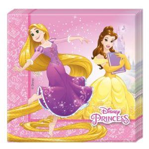 Procos 20 serviettes en papier Princesses Disney