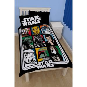 Character World Force Star Wars - Housse de couette et taie (135 x 200 cm)