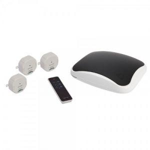 Myfox FO0407 - Home Control 2 + Pack de Centrale alarme IP + 3 Modules 1000 W + Télécommande 3 canaux
