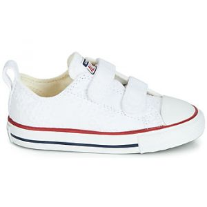 Converse Chaussures enfant CHUCK TAYLOR ALL STAR 2V BROADERIE ANGLIAS OX blanc - Taille 22,23,24,25