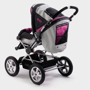 Chic 4 Baby Viva - Poussette combinée 4 roues avec nacelle