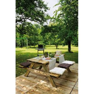 Jardipolys Table de pique-nique Garden 200B