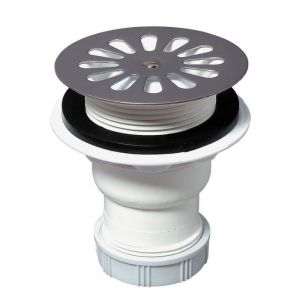 Wirquin Bonde siphoïde pour receveur - Ø 60 mm - Sortie verticale