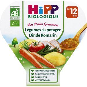 HiPP Biologique Les Petits Gourmets : Légumes du potager dinde romarin 230 g - dès 12 mois