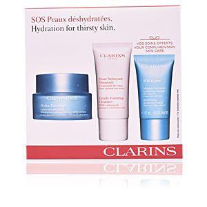 Clarins Hydra-Essentiel - Coffret crème désaltérante, doux nettoyant moussant et masque fraîcheur