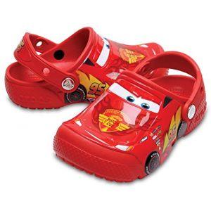 Crocs Fun Lab Cars Clog Kids, Garçon Sabots, Rouge (Flame), 22-23 EU