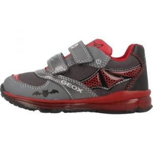 Geox B Todo A, Sneakers Basses bébé garçon, Gris (DK Grey/Red C0047), 25 EU