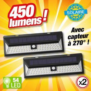 Outiror Lot de 2 projecteur solaire 54 LED