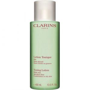 Clarins Lotion Tonique Iris sans alcool - Peaux mixtes ou grasses - 400 ml