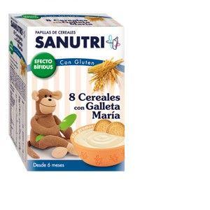 Sanutri 8 céréales avec biscuits 600 g - dès 6 mois