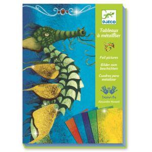 Djeco Tableau à métalliser : Dragons