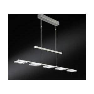 Wofi Lustre 5 lampes led Vileta Nickel Métal 7254.05.64.0000 - Acier - Nickel mat
