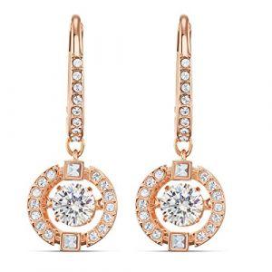 Swarovski Boucles d'oreilles 5504753 - Boucles d'oreilles métal rose rond strass blanc Femme